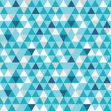 De vector blauwe en grijze naadloze driehoekentextuur herhaalt patroon Stock Fotografie