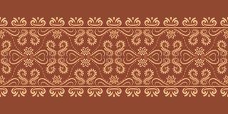 De vector bloeit barokke grens herhaalt patroon vector illustratie