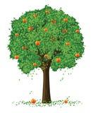 De vector boom van de silhouetappel vector illustratie