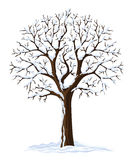 De vector boom van de silhouetwinter royalty-vrije illustratie