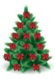De vector boom van Kerstmis Royalty-vrije Stock Afbeeldingen