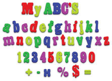 De vector brieven van de het alfabetspelling van de koelkastmagneet Stock Afbeeldingen
