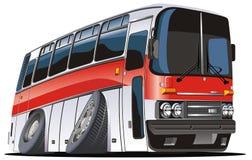 De vector bus van de beeldverhaaltoerist royalty-vrije illustratie