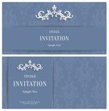 De vector 3d Achtergrond van Grey Floral Malplaatje voor Groet of Uitnodigingskaarten Stock Foto