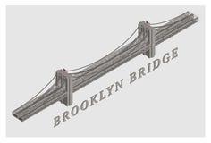 De vector 3d geïllustreerde brug van Brooklyn Royalty-vrije Illustratie