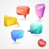 De Vector 3D veelhoek van de toespraakbel Stock Foto's