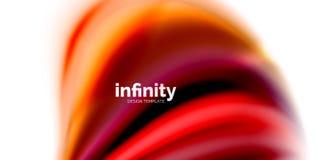 De vector 3d vloeibare achtergrond van de kleurengolf Stock Foto