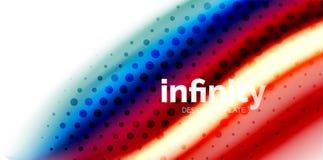 De vector 3d vloeibare achtergrond van de kleurengolf, stromende abstracte vorm met gestippelde textuur, vloeistof gemengde kleur Royalty-vrije Stock Foto