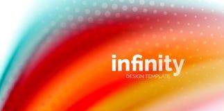 De vector 3d vloeibare achtergrond van de kleurengolf, stromende abstracte vorm met gestippelde textuur, vloeistof gemengde kleur Stock Foto