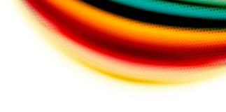 De vector 3d vloeibare achtergrond van de kleurengolf, stromende abstracte vorm met gestippelde textuur, vloeistof gemengde kleur Stock Fotografie