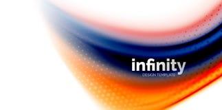 De vector 3d vloeibare achtergrond van de kleurengolf, stromende abstracte vorm met gestippelde textuur, vloeistof gemengde kleur Stock Afbeelding