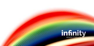 De vector 3d vloeibare achtergrond van de kleurengolf, stromende abstracte vorm met gestippelde textuur, vloeistof gemengde kleur Royalty-vrije Stock Afbeeldingen