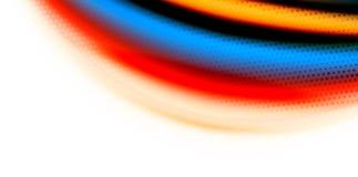 De vector 3d vloeibare achtergrond van de kleurengolf, stromende abstracte vorm met gestippelde textuur, vloeistof gemengde kleur Royalty-vrije Stock Fotografie