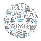 De vector de klantendienst van het lijnconcept stock illustratie
