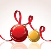 de vector decoratie van Kerstmis Stock Afbeeldingen