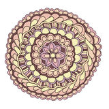 De vector decoratieve bloem van de kleuren roze zomer Stock Illustratie
