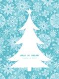 De vector decoratieve sneeuwvlok van vorstkerstmis Royalty-vrije Stock Afbeelding