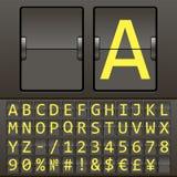 De vector detailleerde hoogst mechanisch scorebord Stock Foto