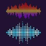 De vector digitale van het de golvenontwerp van de muziekequaliser audio van het het malplaatjegeluidssignaal illustratie van het Stock Foto's