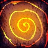 De vector donkere achtergrond van grungehalloween Getrokken hand spirale Stock Afbeelding
