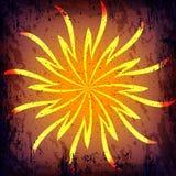 De vector donkere achtergrond van grungehalloween met sunlights Stock Foto's