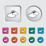 De vector doorstaat pictogrammen Zon en wolk Royalty-vrije Stock Foto