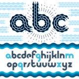 De vector elegante brieven van het overladen kleine letters Engelse alfabet, abc c Royalty-vrije Stock Afbeelding