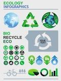 De vector elementen van ecologieinfographics Stock Afbeeldingen