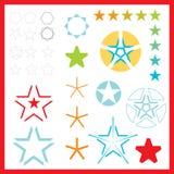de vector emblemen van de Ster Stock Foto's