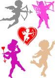 De vector engelen van de Valentijnskaart stock illustratie