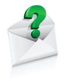 De vector envelop van de pictogrampost met vraagteken stock illustratie