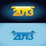 De vector Etiketten van 2013 Royalty-vrije Stock Foto's
