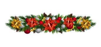 De vector geïsoleerde Decoratie van de Kerstmisspar royalty-vrije illustratie