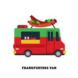 De vector geïsoleerde illustratie van het aanhangwagen snelle voedsel Royalty-vrije Stock Foto
