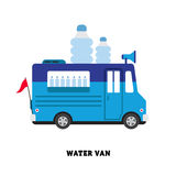 De vector geïsoleerde illustratie van het aanhangwagen snelle voedsel Stock Fotografie