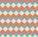 De vector Gecontroleerde Abstracte Achtergrond van de Patroonillustratie Royalty-vrije Stock Foto