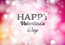 De vector Gelukkige kaart van Valentine ` s Royalty-vrije Stock Afbeeldingen