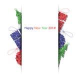 De vector gelukkige nieuwe kaart van de jaar 2014 decoratie Royalty-vrije Stock Fotografie