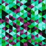 De vector geometrische achtergrond van het driehoekspatroon Stock Foto's