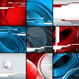 De vector geplaatste achtergronden van technologieën. Eps10 Stock Fotografie