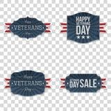 De vector Geplaatste Emblemen van de veteranendag royalty-vrije illustratie