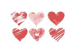 De vector geplaatste harten van de valentine´sdag Stock Foto's