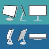 De vector geplaatste pictogrammen van het monitorweb vector illustratie