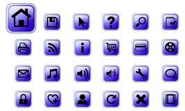 De vector geplaatste pictogrammen van het Web Stock Foto