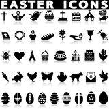De vector geplaatste pictogrammen van Pasen stock afbeelding