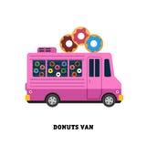 De vector geïsoleerde illustratie van het aanhangwagen snelle voedsel Royalty-vrije Stock Afbeeldingen