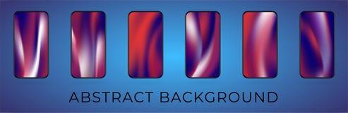 De vector golvende abstracte reeks van de smartphoneillustratie stock illustratie