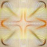 De vector gouden illustratie van gradiënt en het grijs vervormen en netto misvorming of de textuur van de netwerkafwijking vector illustratie