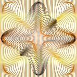 De vector gouden illustratie van gradiënt en het grijs vervormen en netto misvorming of de textuur van de netwerkafwijking royalty-vrije illustratie