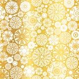 De vector Gouden Witte Abstracte Krabbel omcirkelt Naadloze Patroonachtergrond Groot voor elegante textuurstof, kaarten, weddin Royalty-vrije Stock Foto's